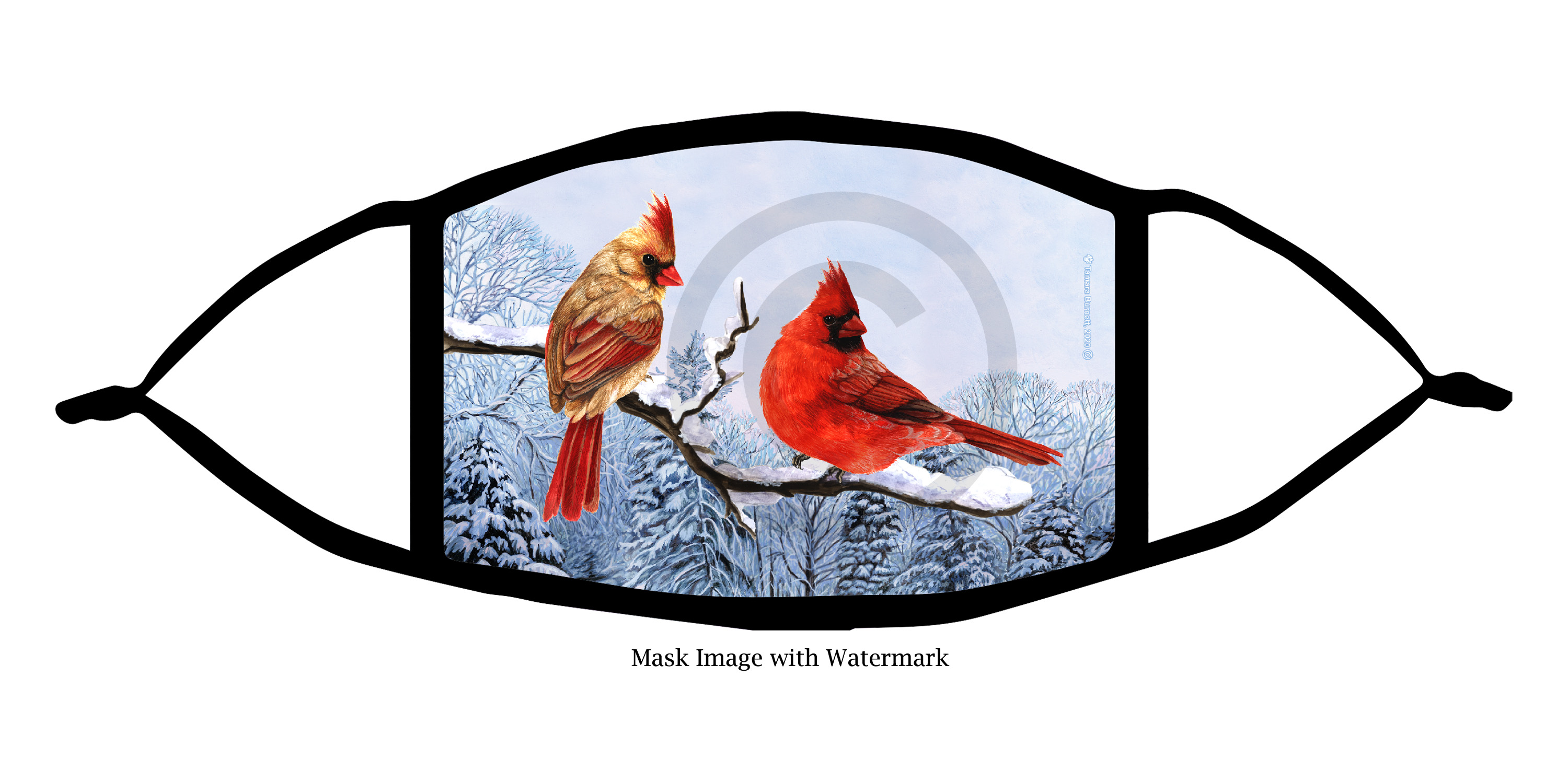 An image of the Northern Cardinal Garden Party Cloth Face Mask