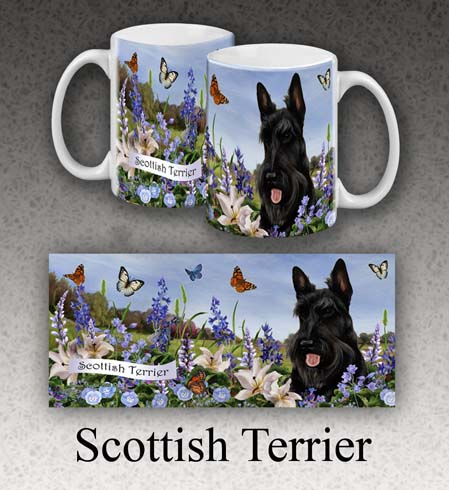 Scottish Terrier - Garden Party Fun Mug 11 oz image sized 449 x 490