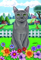 Spring Russian Blue - House Flag Image