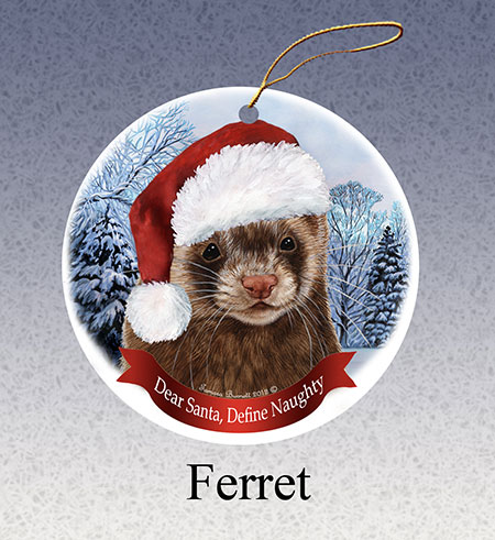 Ferret - Howliday Ornament Image