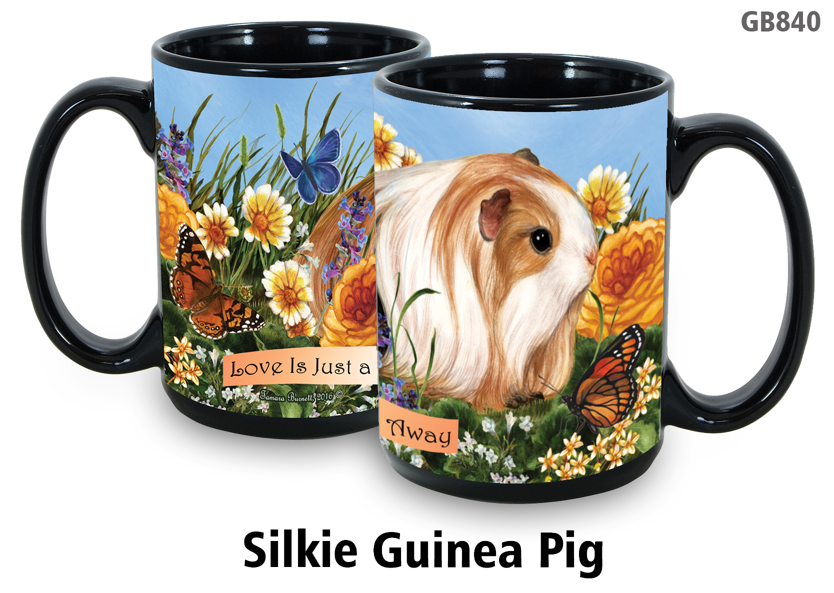 Guinea Pig Silkie - Garden Party Fun Mug 15 oz Image