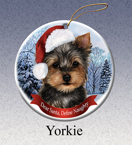 Yorkie - Howliday Ornament image sized 450 x 491