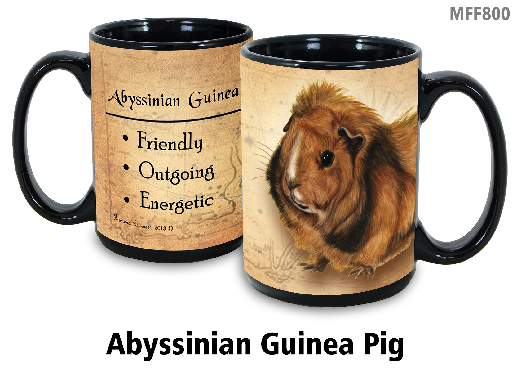 An image of product 8801 Guinea Pig (Abyssinian) - My Faithful Friends Mug 15 oz