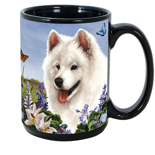 Samoyed - Garden Party Fun Mug 15 oz image sized 500 x 500