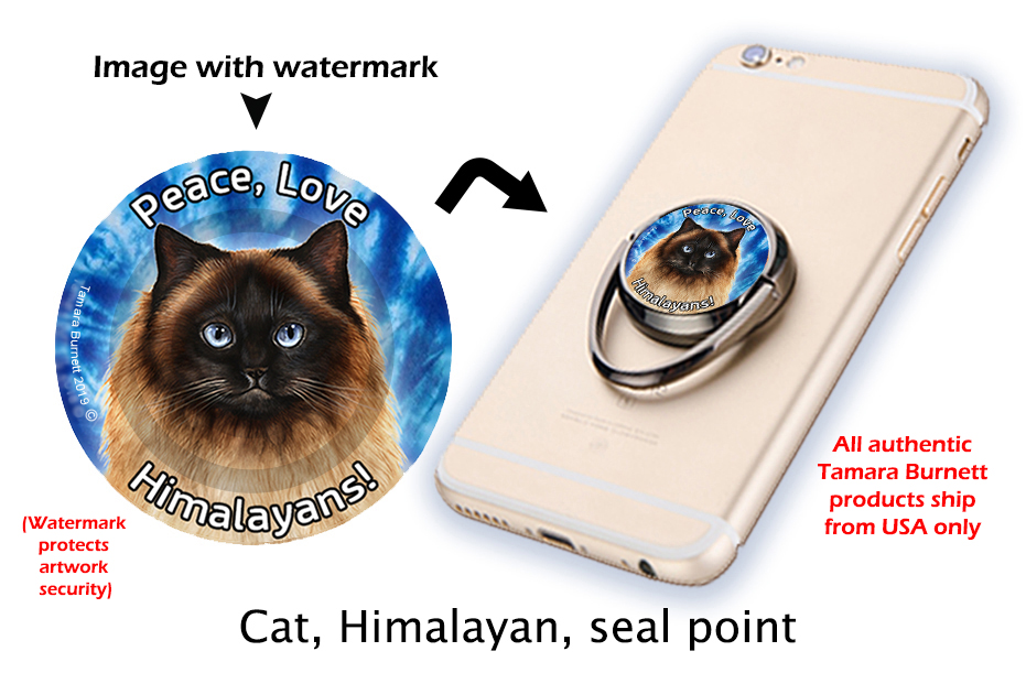 Himalayan Cat - Phone Stand image sized 931 x 611