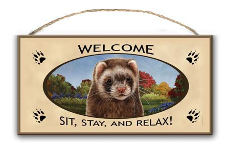 Ferret - Welcome Sign Image