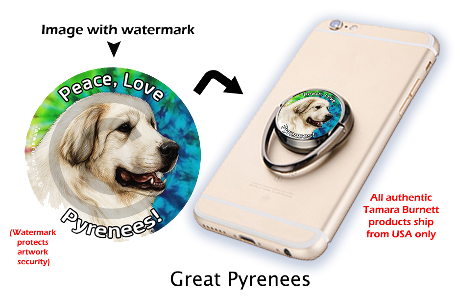 Great Pyrenees - Phone Stand image sized 931 x 611
