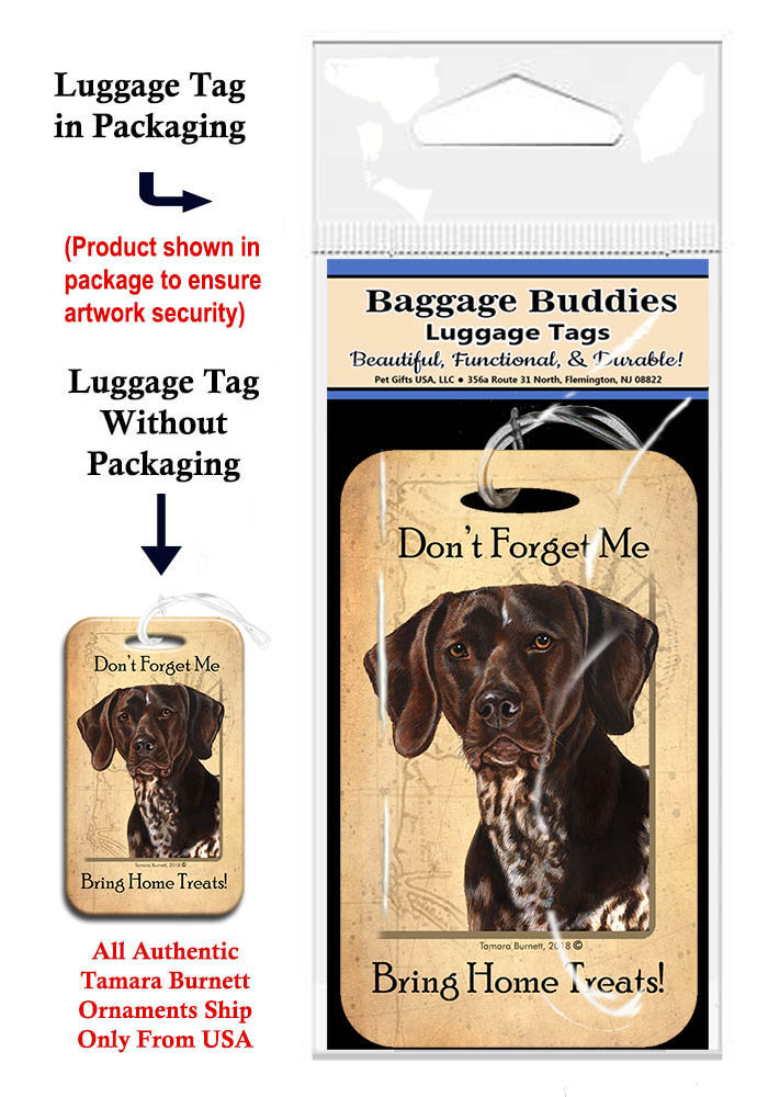 German Shorthair Pointer - Baggage Buddy image sized 690 x 1000