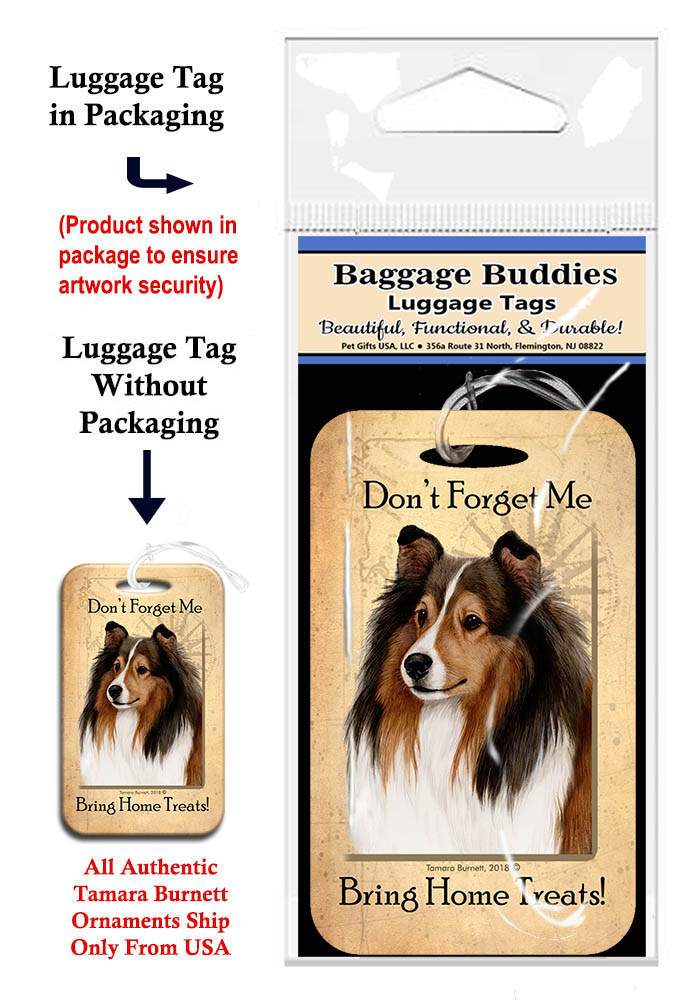 Sheltie Sable - Baggage Buddy image sized 690 x 1000