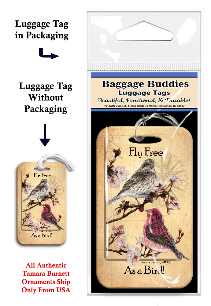 Purple Finch - Baggage Buddy Image