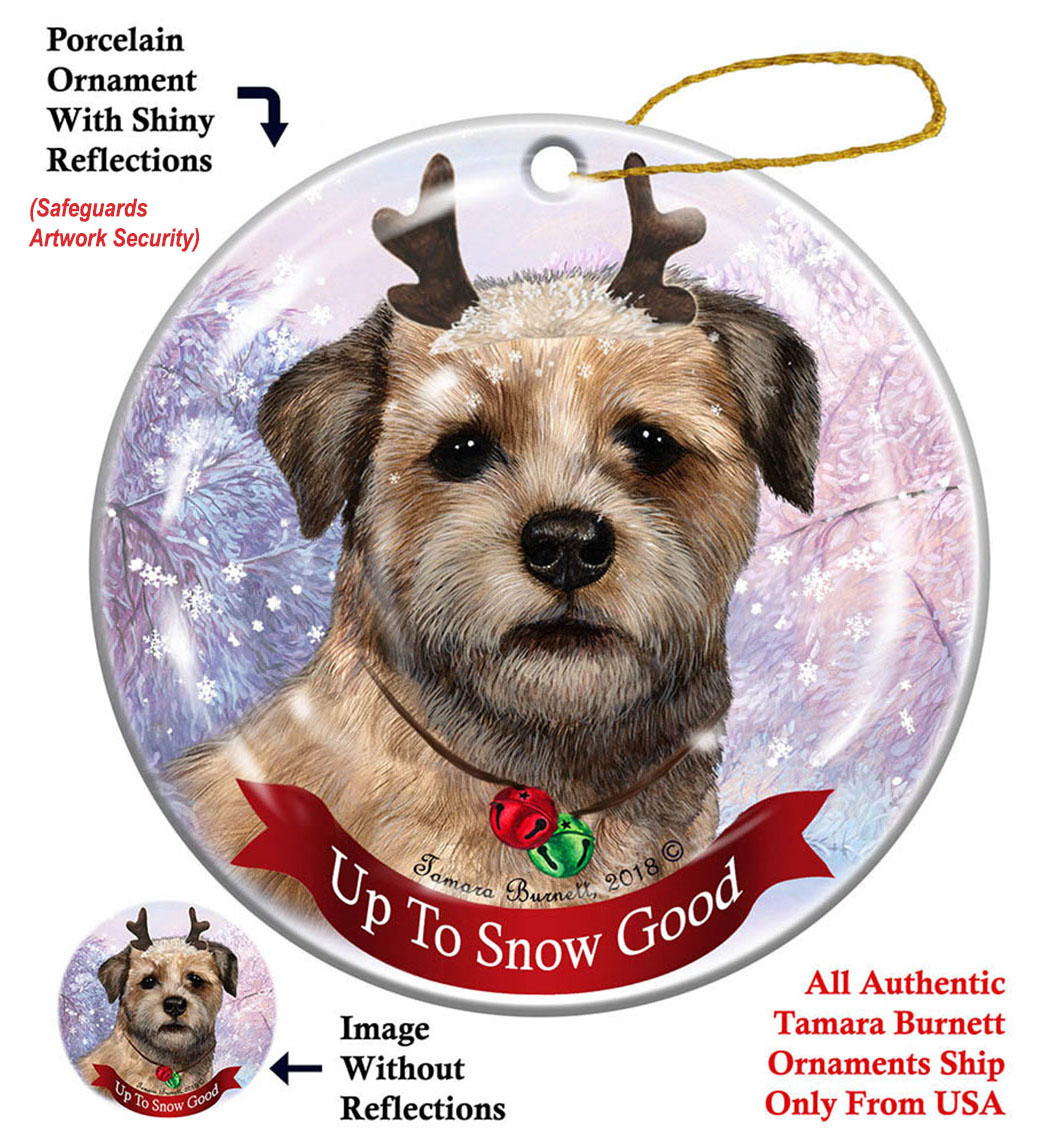 Border Terrier - Up To Snow Good Ornament Image