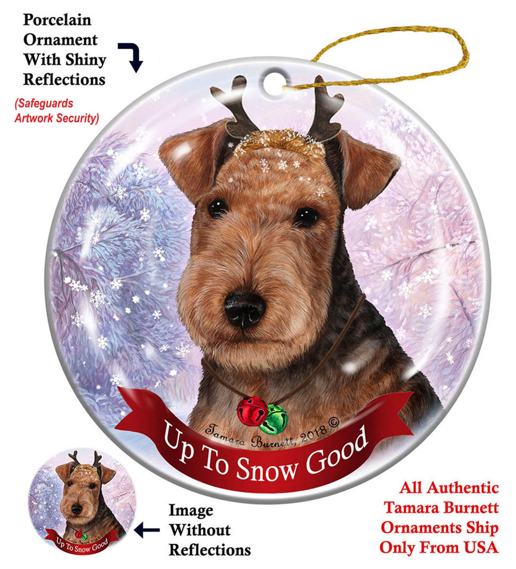 Lakeland Terrier - Up To Snow Good Ornament Image